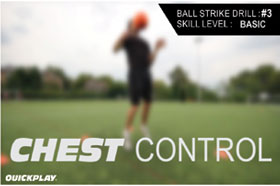 Football Training Chest Control Drills